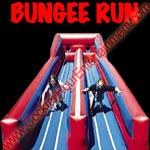inflatable bungee run button