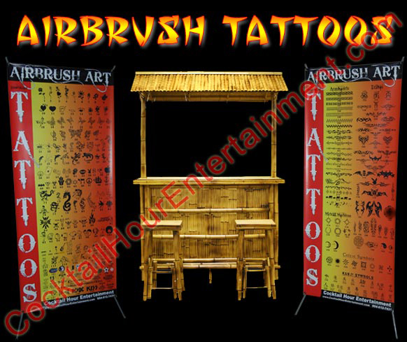 Bat Mitzvah Airbrush Tattoos