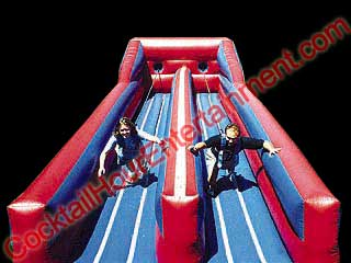 inflatable bungee run game rental